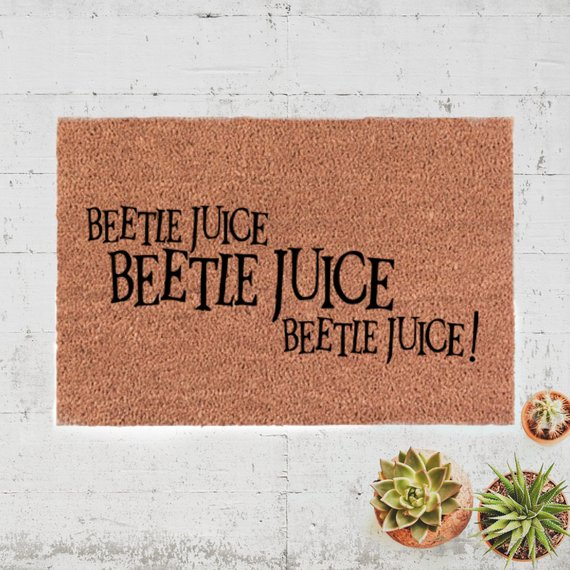 Beetljuice Beetlejuice Beetlejuice Door Mat by Stroll the City on Etsy