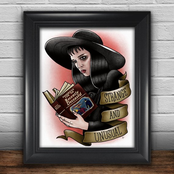 Lydia Deetz Strange & Unusual Print by Holly Ensey Design