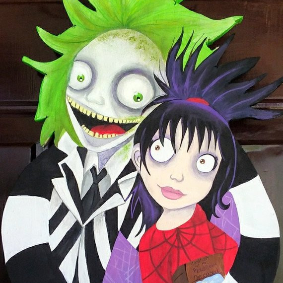 Beetlejuice Door Hanger by Evee's Eccentrics on Etsy
