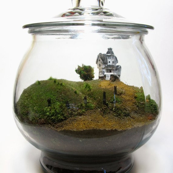 Scale Model Beetlejuice Terrarium by Face of the Earth on Etsy