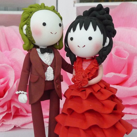 Beetlejuice and Lydia Cake Topper Figurine by Asia World on Etsy