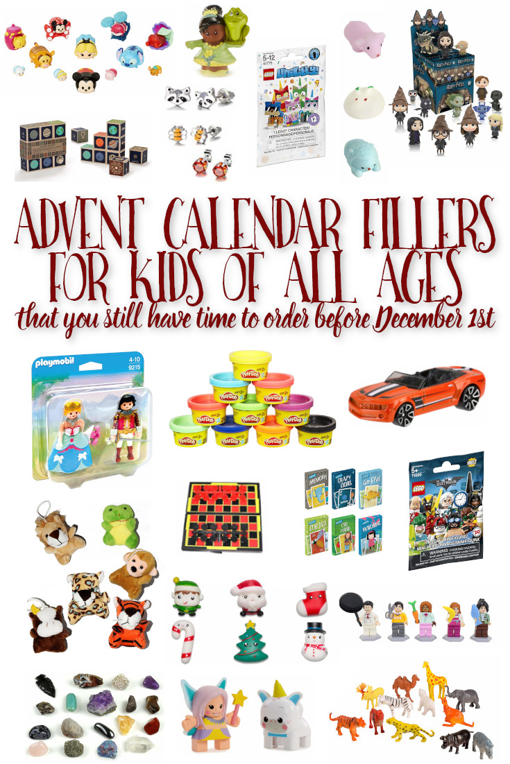 Looking for something to fill your kids Advent Calendar with, and need it fast because December starts in a few days? These items are all available with Prime shipping or can be found at your local Target-and I have ideas for everyone from Baby to Teen! #AdventCalendar #GiftsforKids