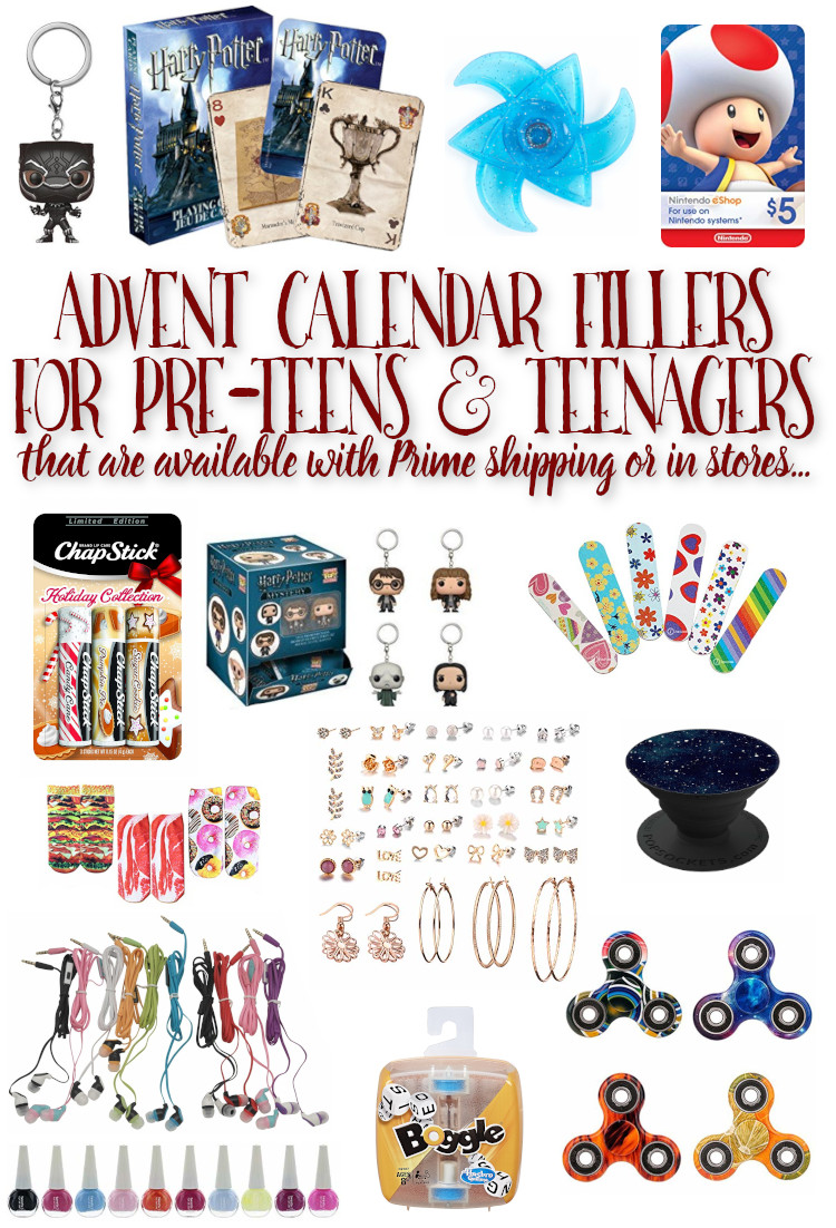 Are you looking for Advent Calendar fillers for your teenager that wont make them roll their eyes? Check out these ideas (and many more!) that all have prime shipping or can be picked up in stores (so you still have time to get them...)