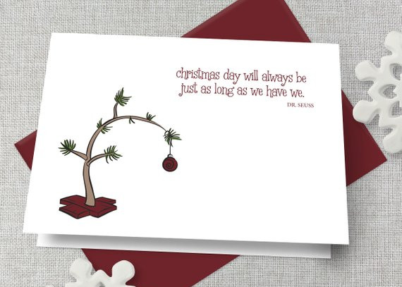 Personalized Dr. Seuss Quote Christmas Card by Find a Penny Paper Co