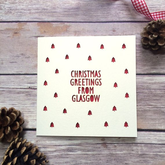 Personalised Location Lasercut Christmas Card by Pretty as a Picture Gift