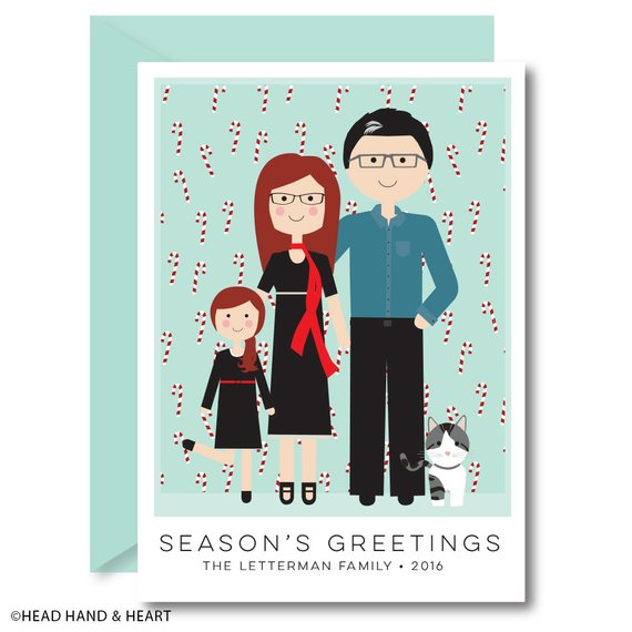 Custom Christmas Card by Head Hand Heart
