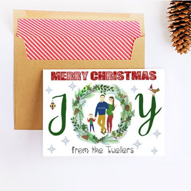 Custom Christmas Card by Emily Shay Art