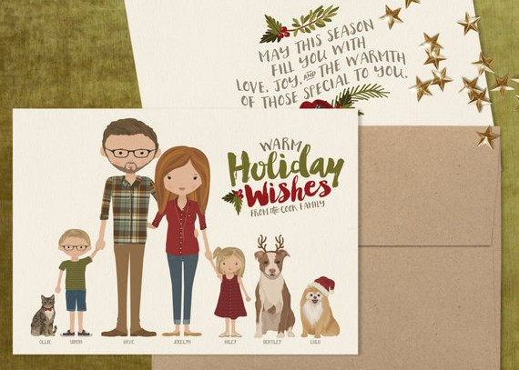 Portrait Christmas Card by Ink Lane Design