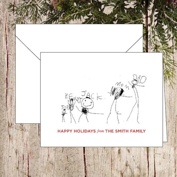 Your Child's Drawing Holiday Card by French Press