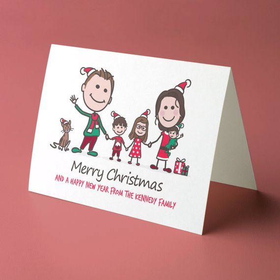 Custom Christmas Card by Young ID Art