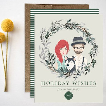 Family Portrait Christmas Cards by Remember November Inc.