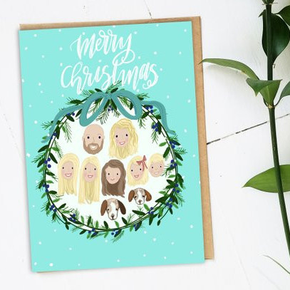 Custom Christmas Card by Ink and Bobbin