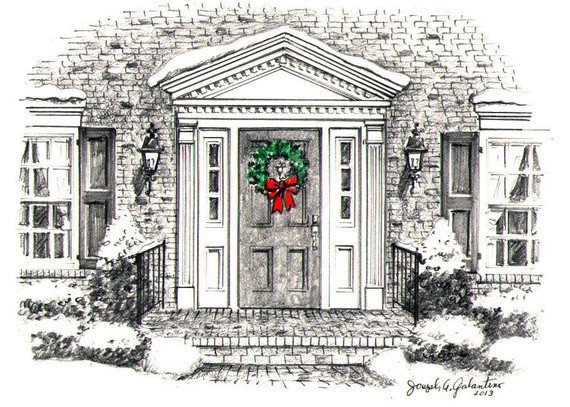"Custom art of ""Your Front Door"" for Cards by Joseph Galantino"