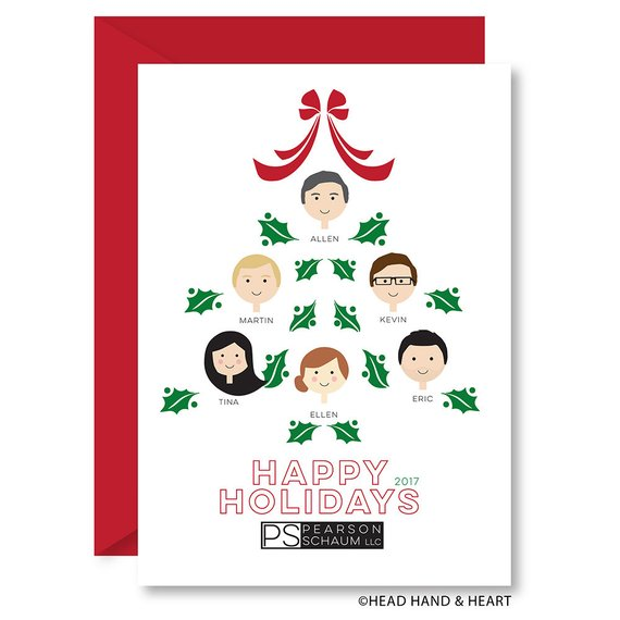 Custom Business Christmas Card by Head Hand & Heart