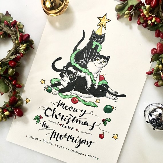 Personalized Christmas Cards by The Art of Rachel