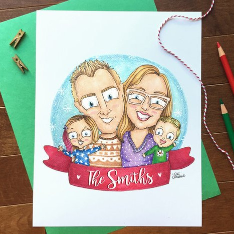 Custom Family Illustration by Ori Chalbaud