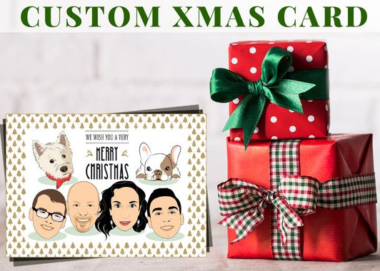 Custom Family Christmas Cards by Art Portrait Boutique