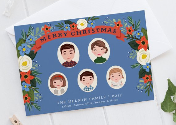 Custom Christmas Card by Lovely Little Faces