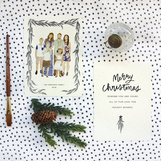 Custom Illustrated Holiday Card by Public House Co