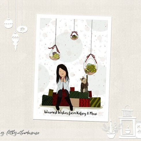 Custom Family Christmas Card by Little Yellow Daisiess