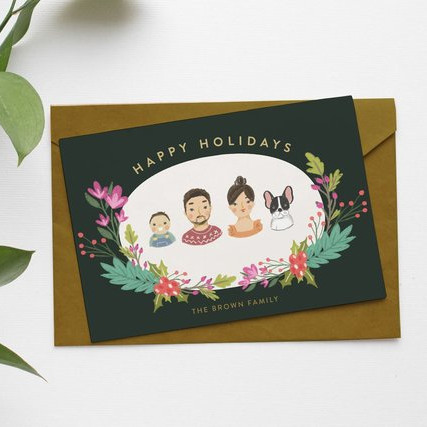Custom Christmas Card by Sasa Khalisa