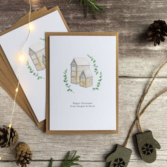 Scandinavian Lanterns Custom Card by Silver Quill Co