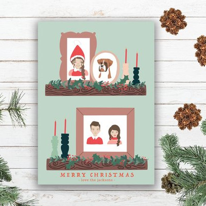 Custom Family Christmas Card by Unearthed Paper Co