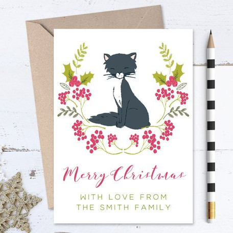 Cat Christmas Card Pack by Love and Paws Shop