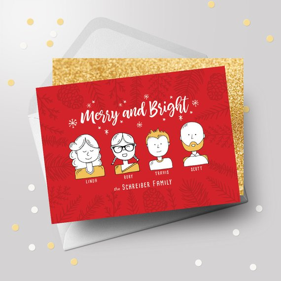 Custom Family Christmas Card by My Invitation Shoppe