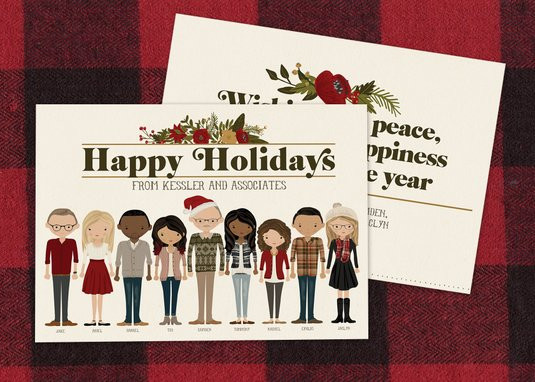 Personalized Corporate Holiday Card by Ink Lane Design