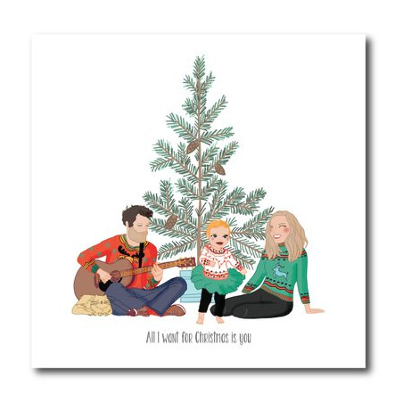 Custom Illustrated Holiday Card by The Paperberry
