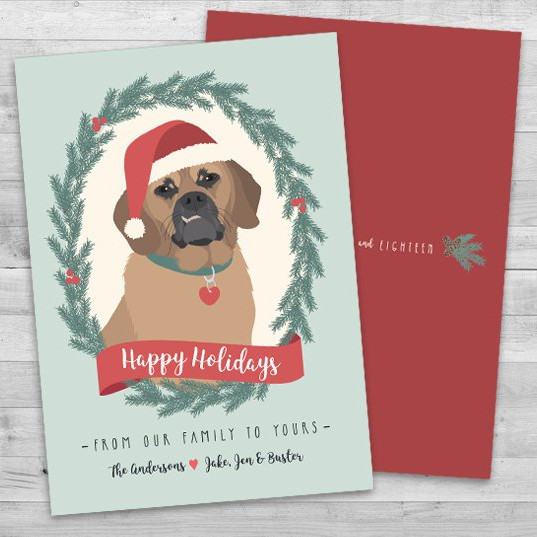 Happy Howlidays Dog Christmas Card by Tea Olive Design Shop
