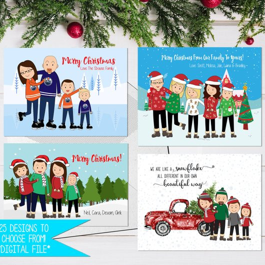 Cartoon Christmas Card by Digital Art Designs by B