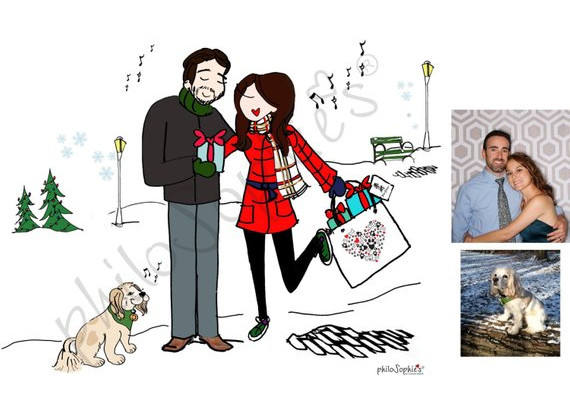 Illustrated Holiday Card by PhiloSophie's