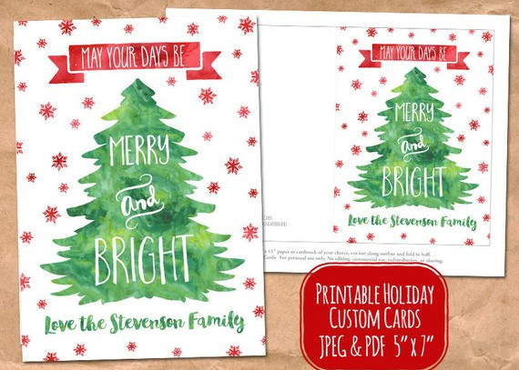 Custom Name Holiday Cards by Dreaming Minds Cards