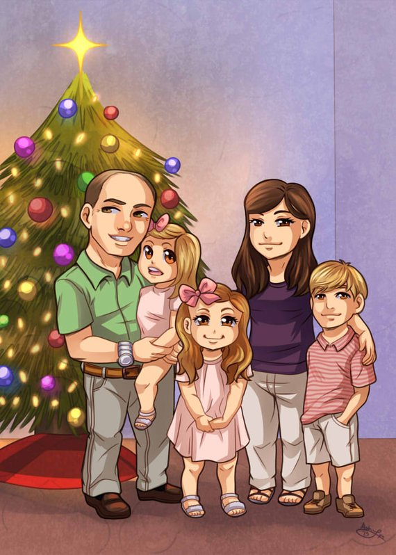 CUSTOM Chibi Family Portrait by My Art My Life