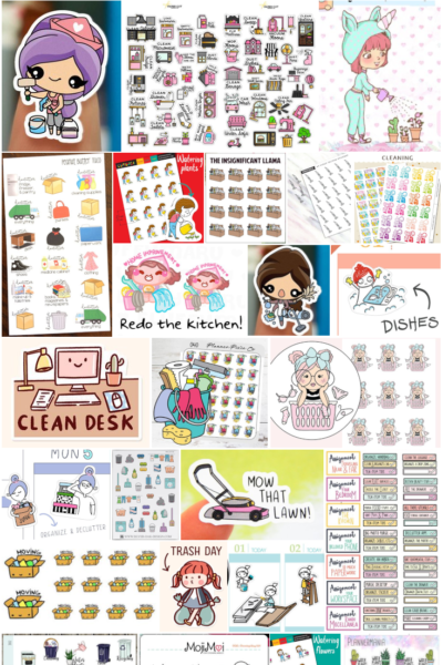 Household Planner Stickers for an Organized at Home