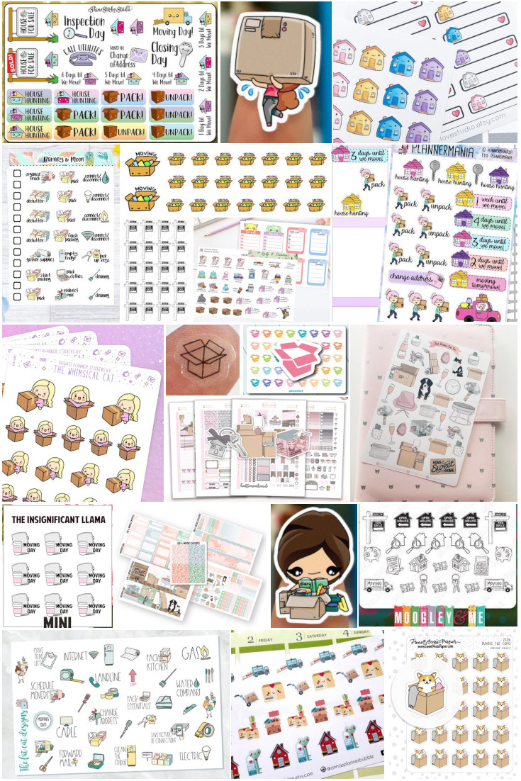 Planner Stickers that will help you keep your move and home-buyng experience so much more organized. #PlannerStickers #Moving