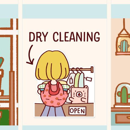 Dry Cleaning Sticker by Happy DAYA Stickers