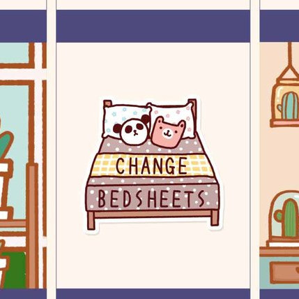 Change Bedsheets Planner Stickers by Happy DAYA Stickers