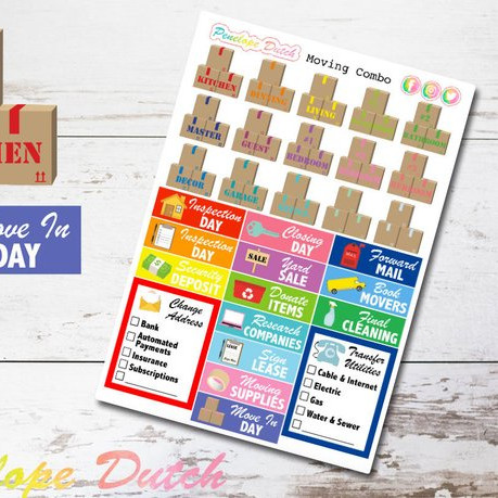 Moving House Planner Stickers by Penelope Dutch