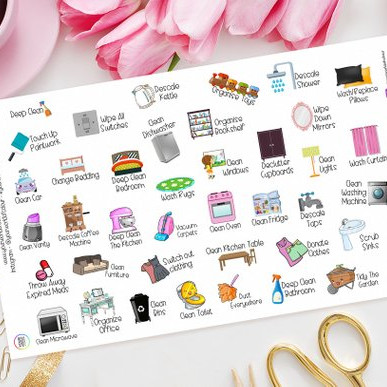 Deep Clean Planner Stickers by Your World of Color