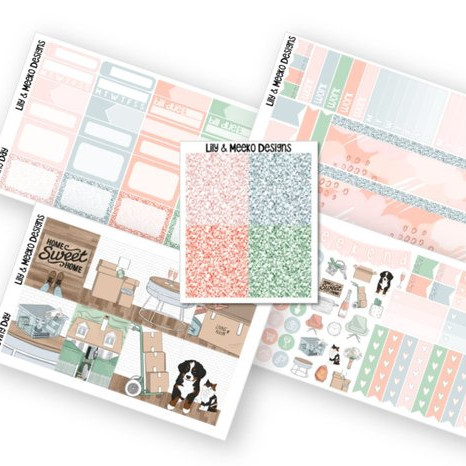 Moving Day Sticker Kit by Lily and Meeko Designs