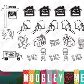 House Hunting Stickers by Moogley and Me