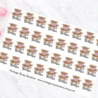 Declutter Planner Stickers by Vintage Rose Studios