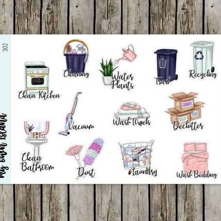 Cleaning Repositionable Planner Stickers by Lisa Lorene Plans