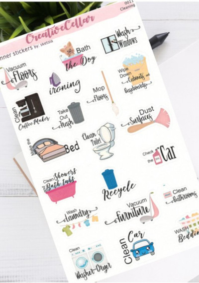 Cleaning Planner Stickers by Creative Cellar