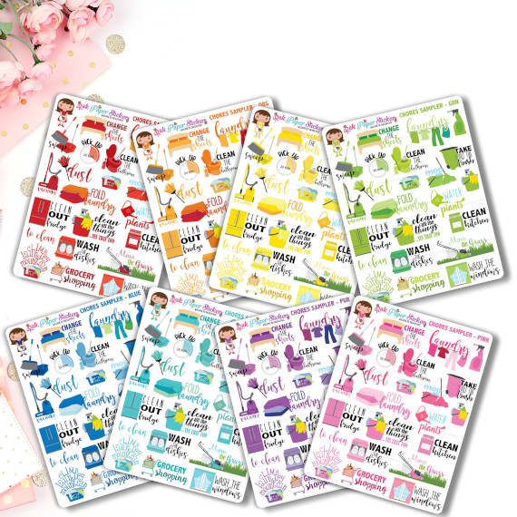 Chores Sampler Planner Stickers by RAK Paper Stickers