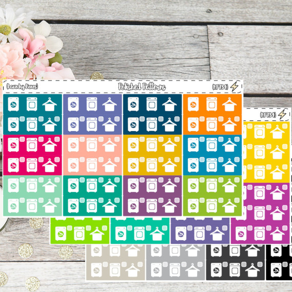 Laundry Checkbox Stickers by Polished Patterns
