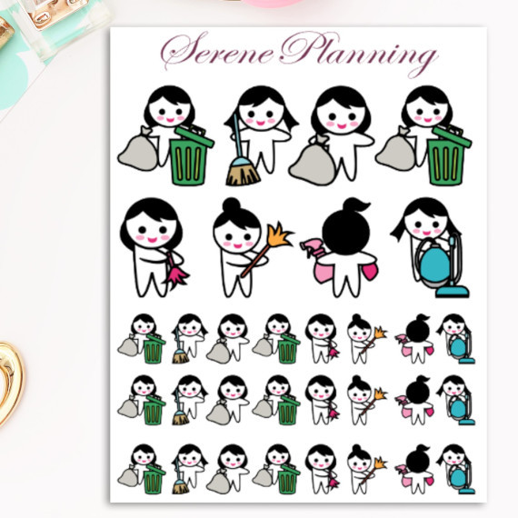 Spring Cleaning Planner Stickers by Serene Planning